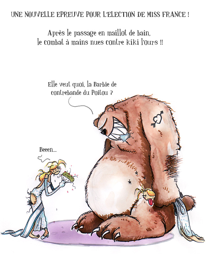 Miss France contre kiki l'ours